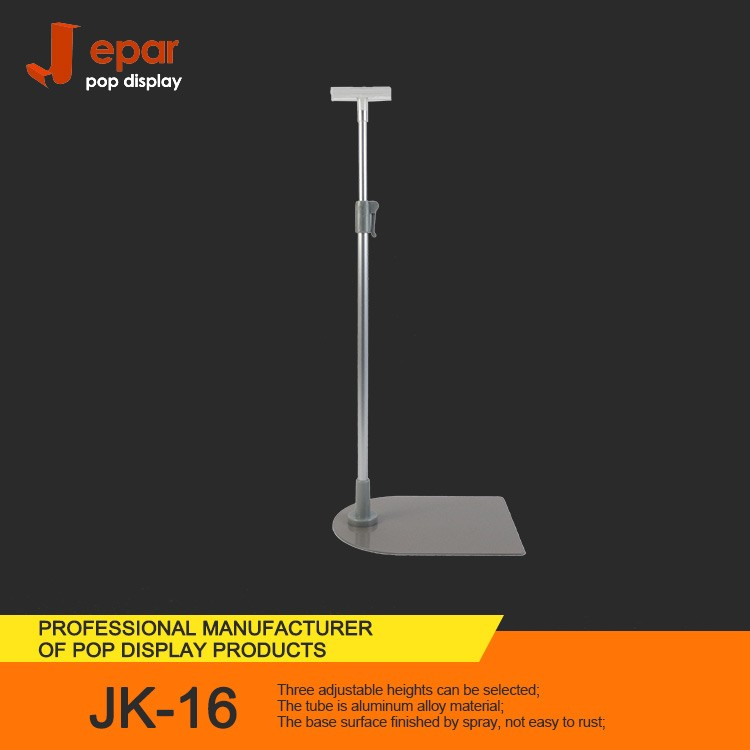 Supermarket&Store JK-16 Metal Base with Flexible Height Aluminum Pole Sign Holder Stand