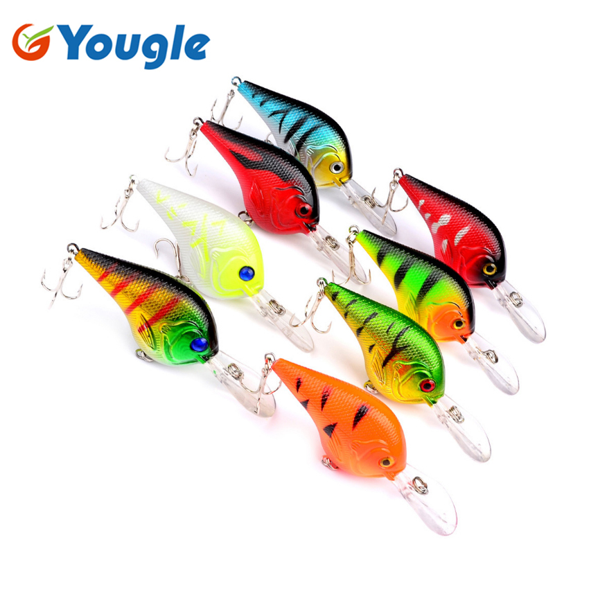 Yougle Fishing Lure เหยื่อ Hard ประดิษฐ์ Crank Bionic Lure Fishing Tackle 11.2g 9.5 cm 6 # Hook DW1291