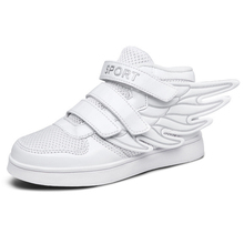 2016 children s sports shoes for men and women fashion lace wings Spring new leisure solid