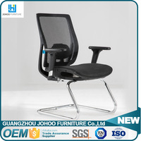 Modern Elegant 3D armrest office vistor chair for conference meeting chair with mesh back bow base