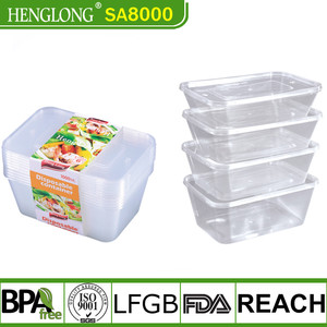 Wholesale Plastic Rectangle Disposable Food container/Hot Selling Transparent PP Lunch Box Manufacturer