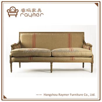 French Classic Living Room Louis Xvi Oak Solid Wood Frame Sofa