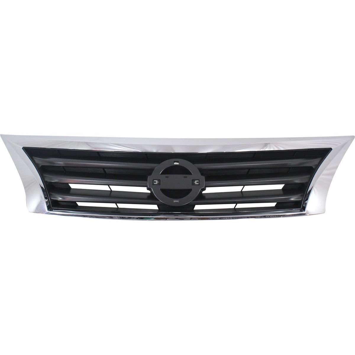 Grille Grill Assembly NI1200250 For 13-15 Nissan Altima SEDAN Chrome Shell with Gray Insert
