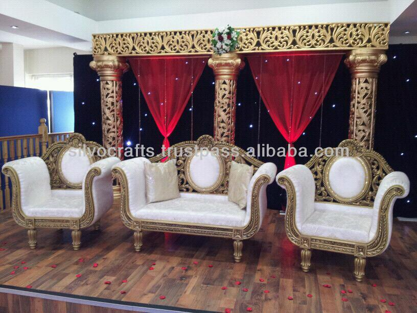 Wedding Stage Sofa Set Chairs For Bride Groom From Clic Silvocrafts Indian Furniture