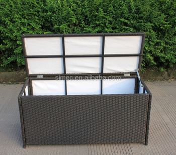 China Supplier Wholesale All Weather Outdoor Hdpe Rattan Storage Box