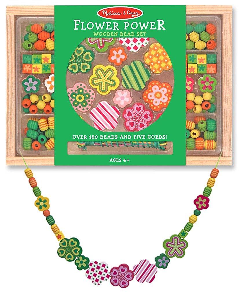 41751 Melissa /& Doug Wooden Sweet Hearts Bead Accessory Creation Set FREE Scratch Art Mini-Pad Bundle