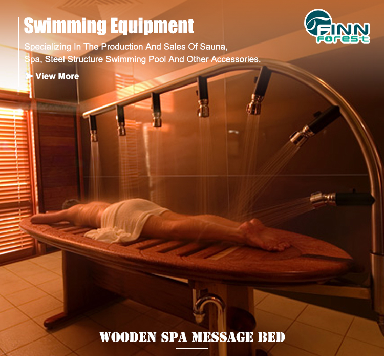Wooden Wet Bed Water Massage Bed Hydraulic Massage Table