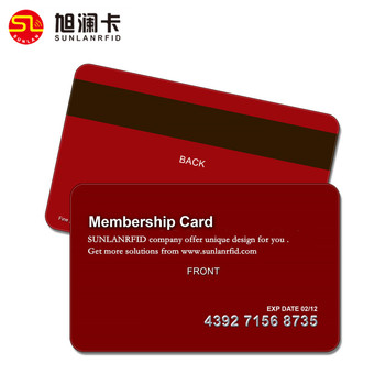 customize cheap pvc plastic magnetic sample membership card with