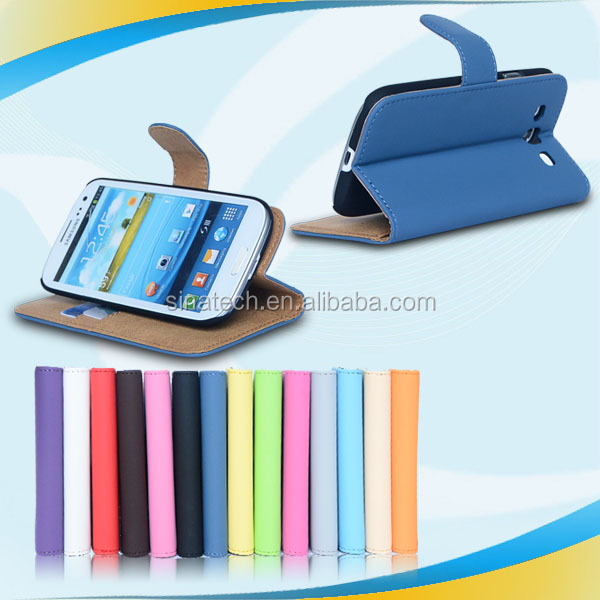 Most popular fashion cellular phone case wallet for samsung s3