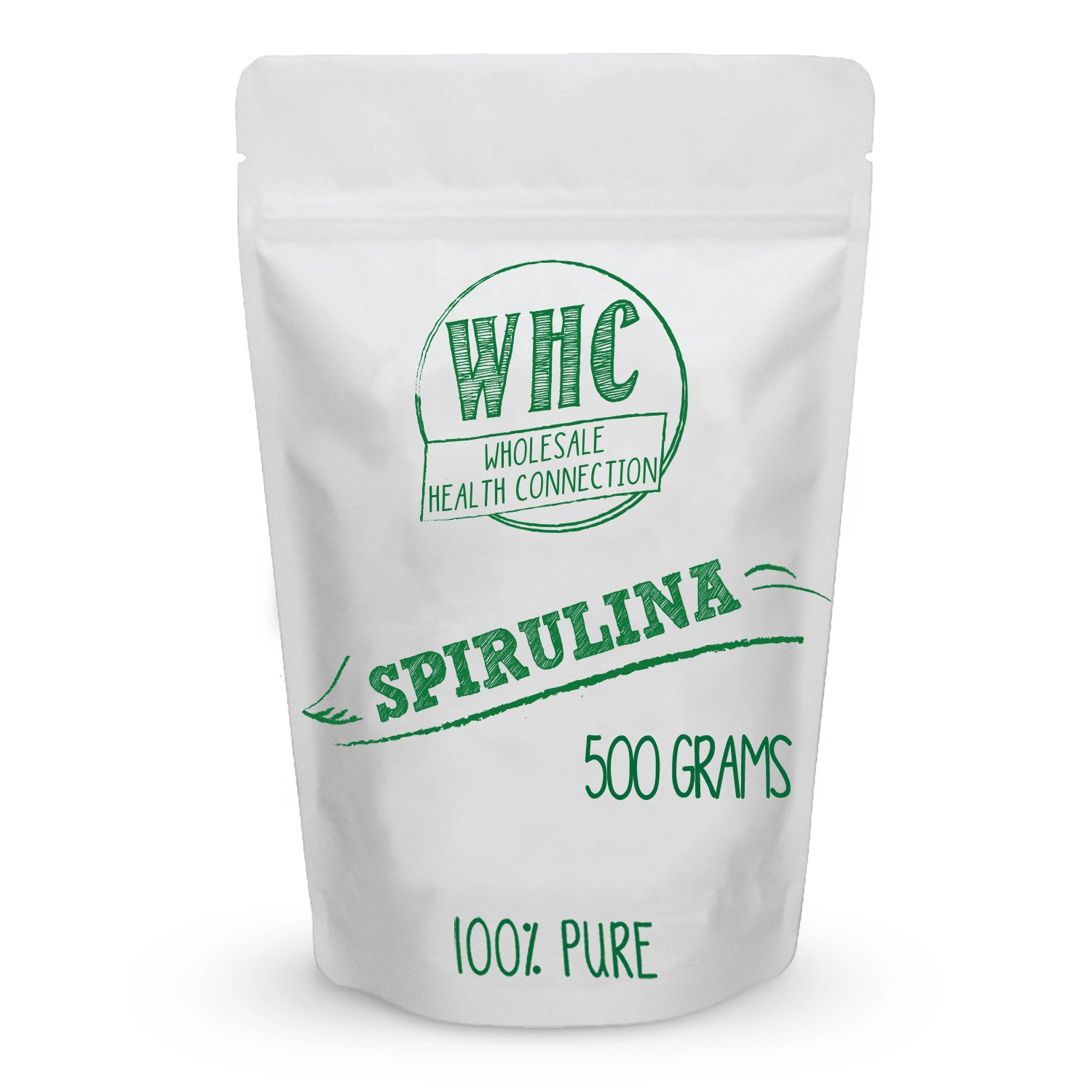 Spirulina Powder 500g (167 Servings) | Super Food | Vegan Protein Source | Vitamin, Minerals, and Carotenoids | Antioxidant | Anti Inflammatory | Helps Protect Heart and Liver