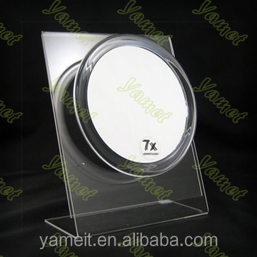 Facrylic Customized Acrylic bathroom wall concave mirror