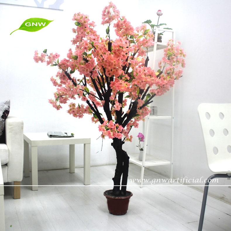 Gnw bls041 soie mini artificielle bonsa fleur de cerisier arbre int rieur d coration fleurs - Arbre deco interieur ...