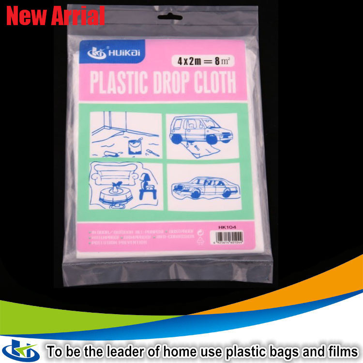 new hdpe dust sheet for protection paint protection film clear plastic drop cloth