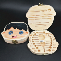 Wholesale Wooden Crafts Kids Gift Carton Milk Teeth Box Baby