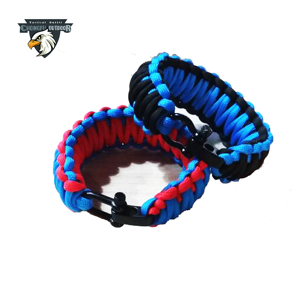 Hot products 2017 chinese merchandise used parachutes 550lb paracord campings pandora bracelet for outdoor survival bracelet