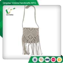 eco-friendly natural color crochet bags for women
