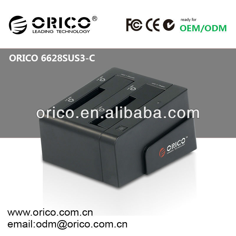 ORICO 6628SUS3-C dual bay HDD Docking Station Clone Docking for 2.5''&3.5'' SATA HDD