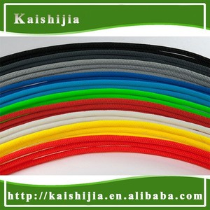 High density PET Braided flexible cable mesh sleeving