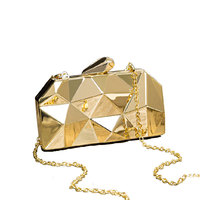 Fancy Party Evening Purse Bag Metal Clutch For Lady