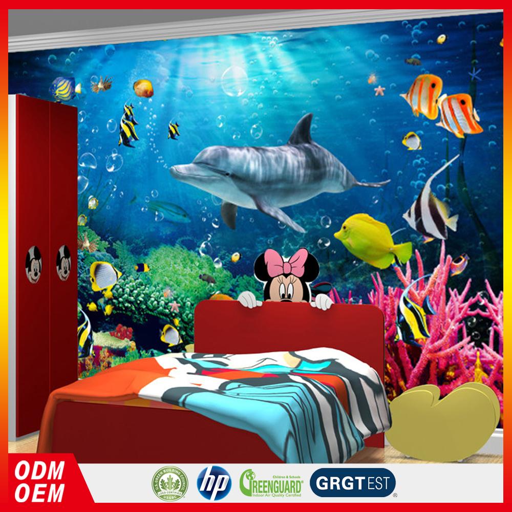 wasserdicht vinyl tapete unterwasserwelt delphin dekorative 3d tapeten kinderzimmer tapeten wand. Black Bedroom Furniture Sets. Home Design Ideas