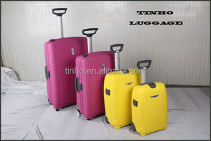 Single trolley hard plastic carrying cases