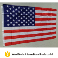 Cheap stock 100%polyester July fourth 3*5ft American US USA flag