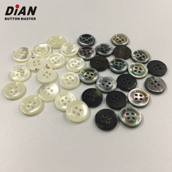 Wholesale 18L 11.5mm 4 Holes Custom MOP Real Shell Button for Blouses Shirts