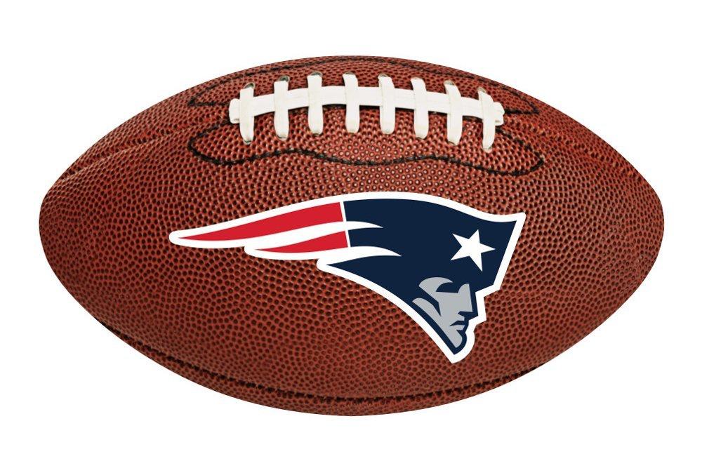 Creative Converting 12-Count New England Patriots Football-Shaped Decorative Logo Cutout