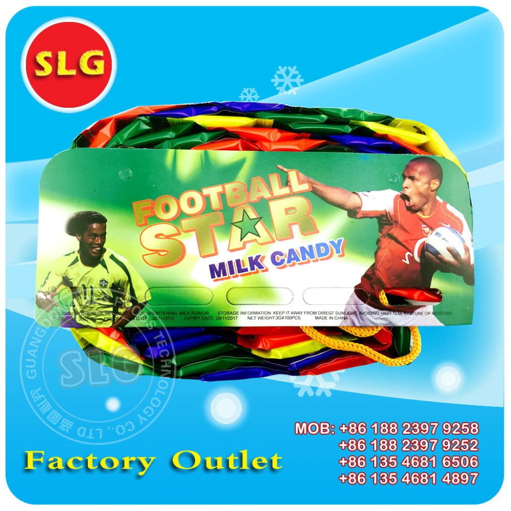 Football star milk candy