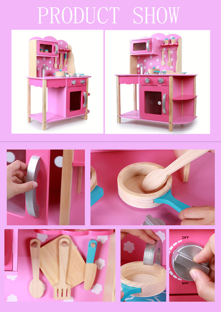 2020 New Product Large Wooden Kids Kitchen Set Cooking Toy Role Pretend Play Toys For Children