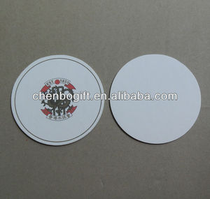 Hot sale cheap tea coaster, paper drink cup mat, absorbent paper coaster