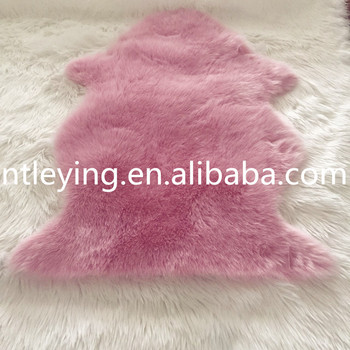 Hot Pink Carpet Soft Faux Fur Sheepskin Rug