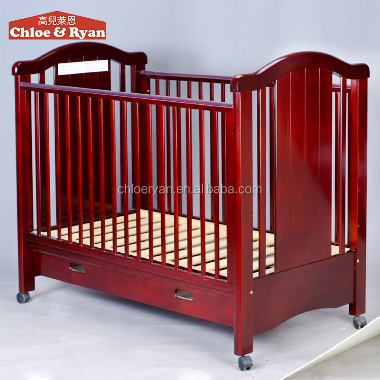 multi purpose wooden baby bed with cradle mosquito net