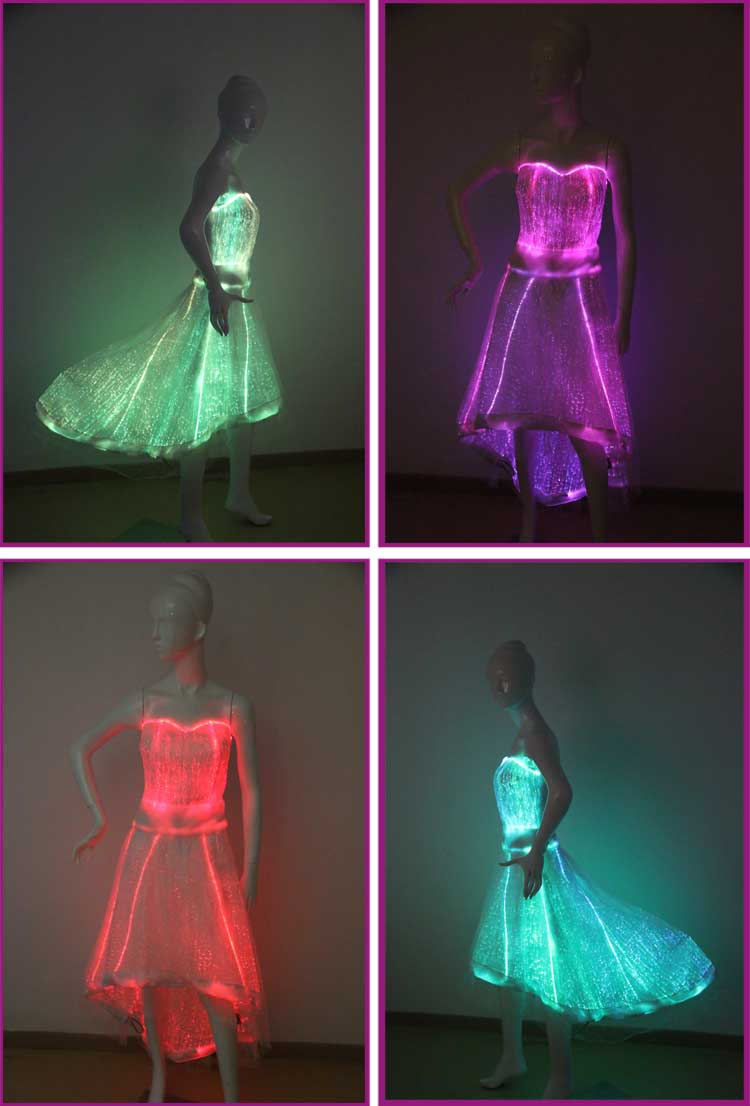 Luminous Party Dress Light Up Illuminated Dance Dress