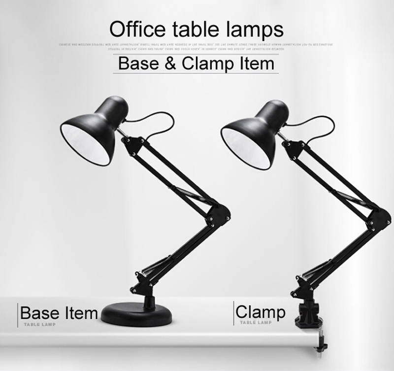 Popular Portable Luminaire Table Lamp Base and C-Clamp 1.5 M Power Cable Ultra Bright LED Desk Lamps with 5W G45 E27 Bulb