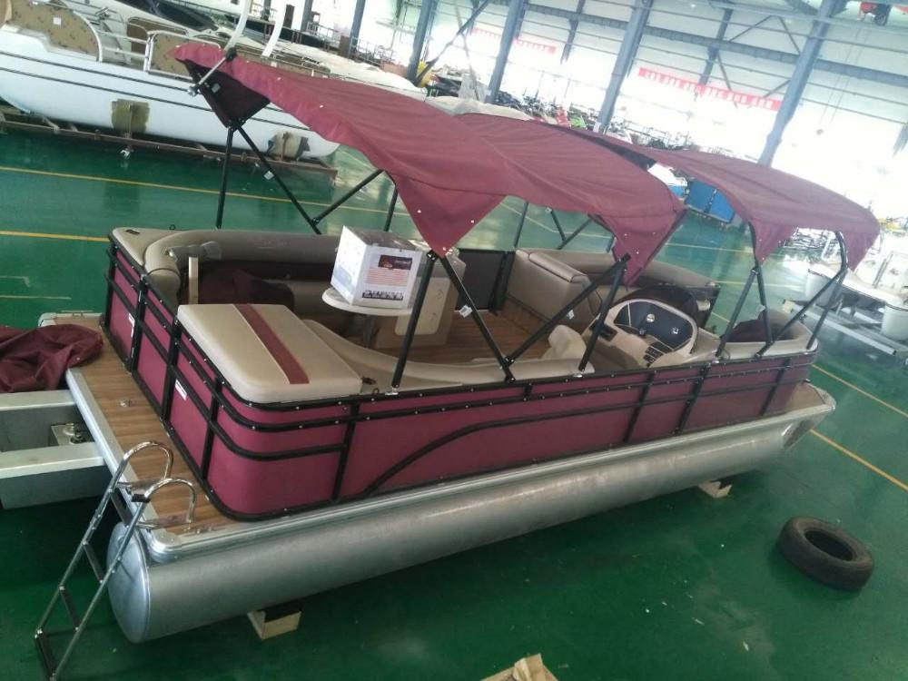 90 Hp Mercury Outboard >> 2017 Aluminum Pontoon Passenger Catamaran Boat Double ...