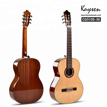 Music instrument 36 inch solid wood classical guitar handmade