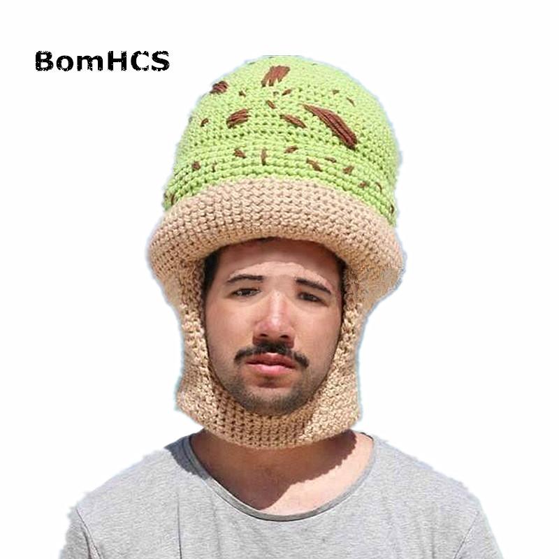 98a330ebd85 2019 BomHCS Funny Beanie 100% Handmade Knit Hat Novetly Halloween ...