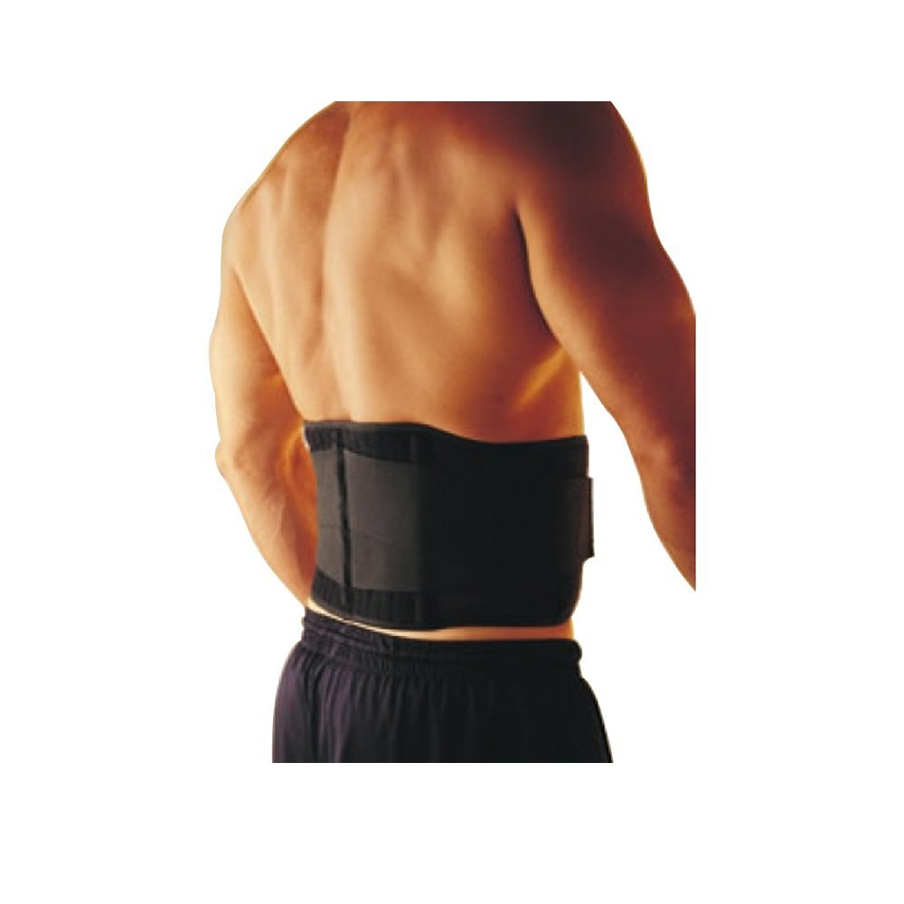 "HealthAndYoga(TM) Magnetic Lumbar Support Back Belt | 4-way power of Magnets, Neoprene Back Warmth, Double Pull Mechanism and Rib Support | Attractive, Non-bulky (L: 80-100cm (32""-39""))"