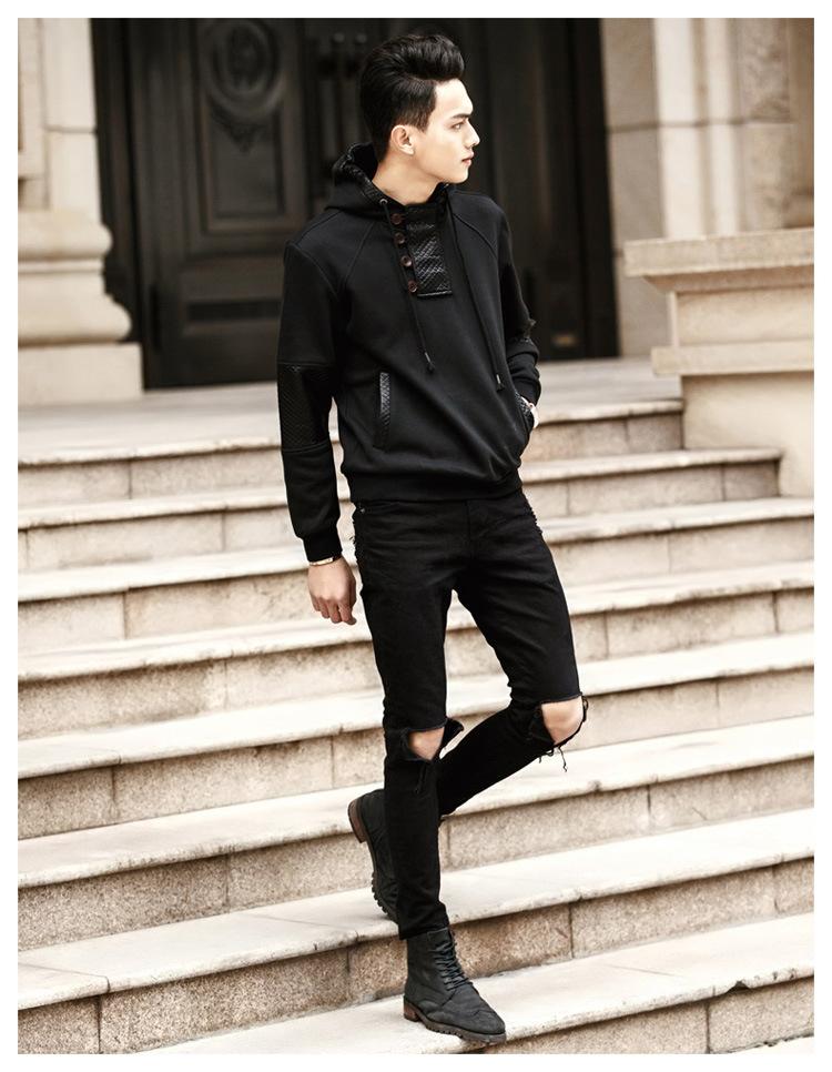 Black Hoodie Style Fashion Ql
