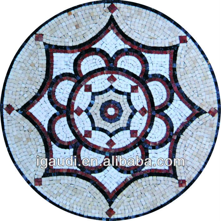 Greek marble mosaic art tile