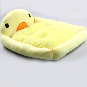 Fine joy Cute Yellow Duck Bed Pet Beds Mats Teddy Pet Dog Sofa Pet Cat Bed House Big Blanket Cushion Basket Supplies