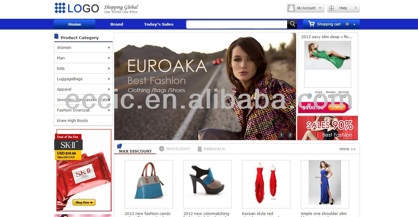 Fashion Shoes Clothing Apparel New Brand E-business Website Design ...