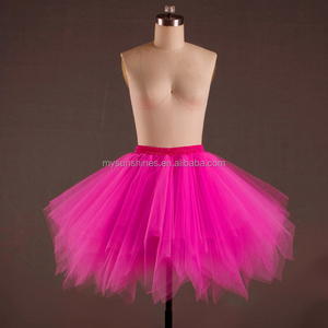 Factory price and top quality Dark pink fuxia girls teen adult long tulle tutu skirt