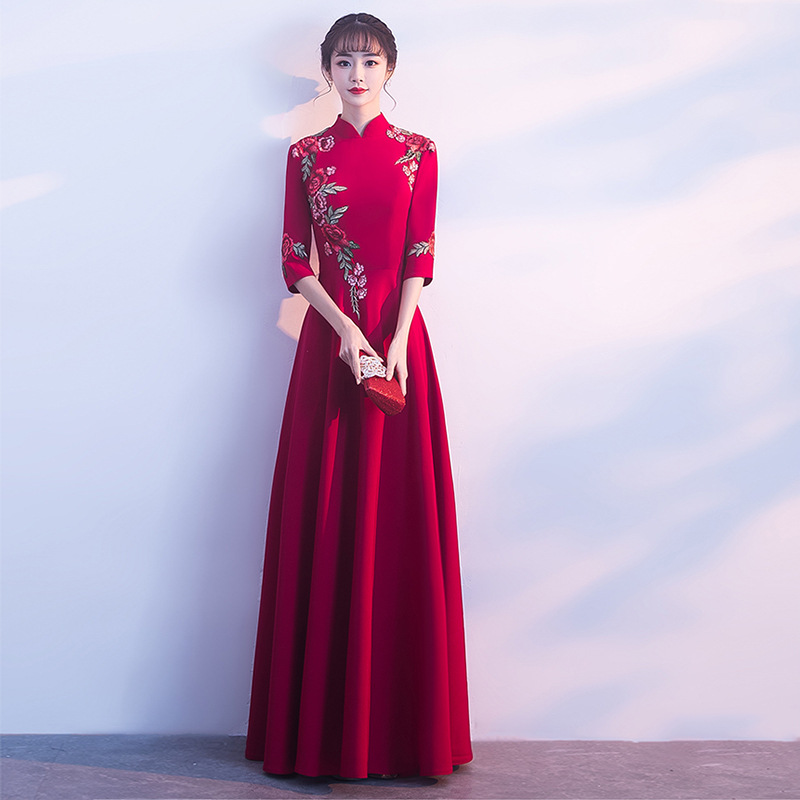 Custom Made Vintage Chinese Traditional Evening Gowns