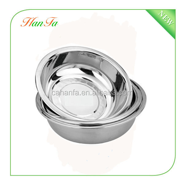 28cm Wholesale 201 High Quality & Durable Stainless Steel Serving Bowl, Dog Bowl, Soup Bowl