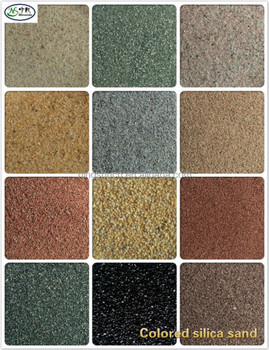 Colored Silica Sand For Effect Textured Wall Paint Outdoor Wall