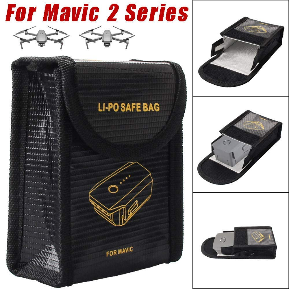 Gbell 1Pcs Li-po Battery Explosion-Proof Fireproof Guard Safe Bag Cover for DJI Mavic 2 Series,Drone Accessories
