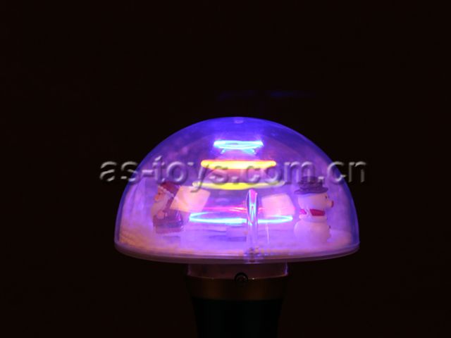 christmas led magic mushroom spinner light up spinning