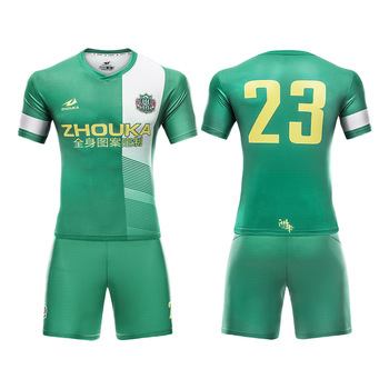 2a8473608 Custom football jersey training suit full sublimation printed professional  sportswear suit OEM service thailand soccer jersey